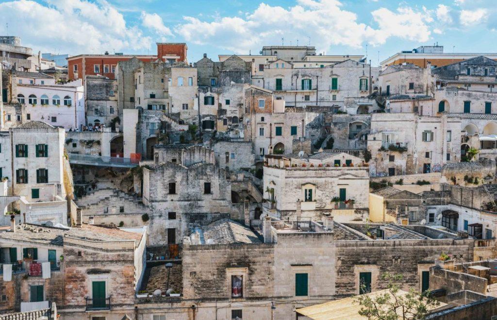 Vista dalla cattedrale di Matera