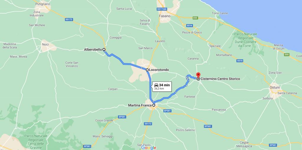 Mappa Valle d'Itria