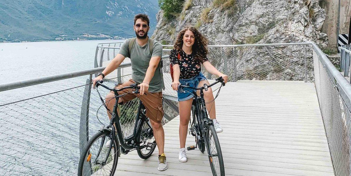 Soloviaggiumili sulla pista ciclabile di Limone sul Garda